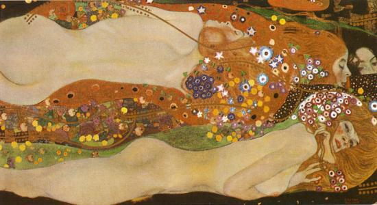 Gustave Klimt  - Les serpents d'eau -