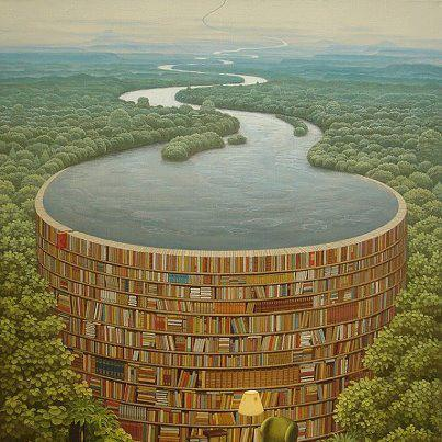 Jacek Yerka -Bible Dam-